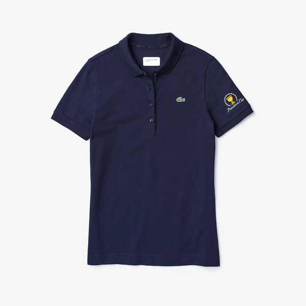 WOMEN'S PRESIDENTS CUP JERSEY POLO, NAVY BLUE, hi-res