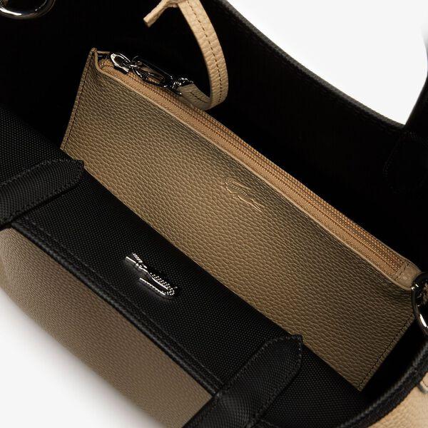 Women's Anna Vertical Shopping Bag, BLACK WARM SAND, hi-res