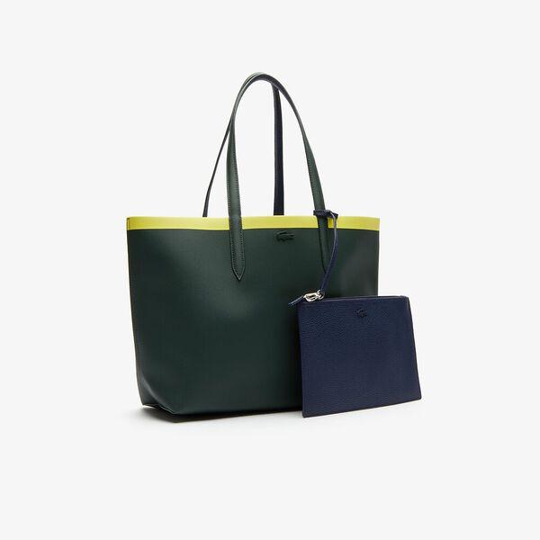 Women's Anna Shopping Bag, SCARAB PEACOAT GREEN SHEE, hi-res