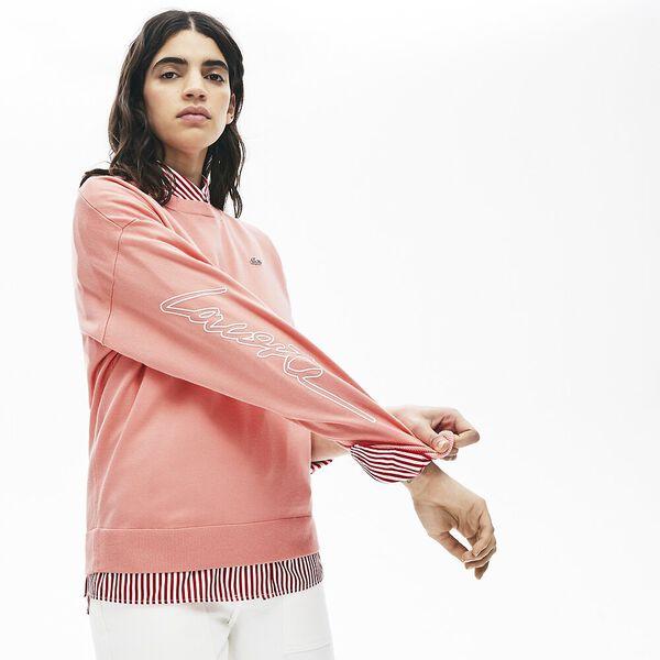 Women's Lacoste LIVE 3D Signature Cotton Crew Neck Sweater