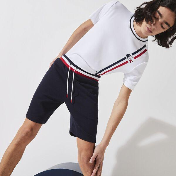 Men's SPORT French Sporting Spirit Fleece Shorts, NAVY BLUE/WHITE-RED-RED, hi-res