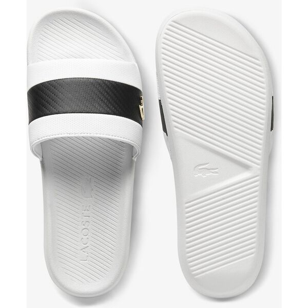 Men's Croco  Slides, WHITE/BLACK, hi-res
