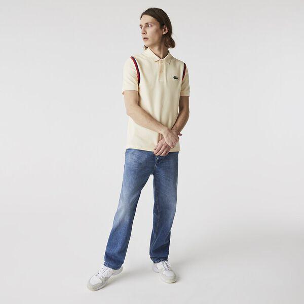 Men's Made In France Organic Cotton Polo Shirt, NATUREL CLAIR, hi-res