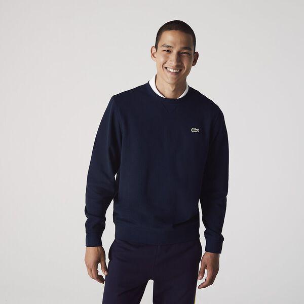 Men's SPORT Fleece Crew neck Sweatshirt, NAVY BLUE/, hi-res
