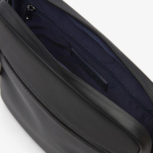 Men's L.12.12 Medium Flat Crossover Bag, BLACK, hi-res