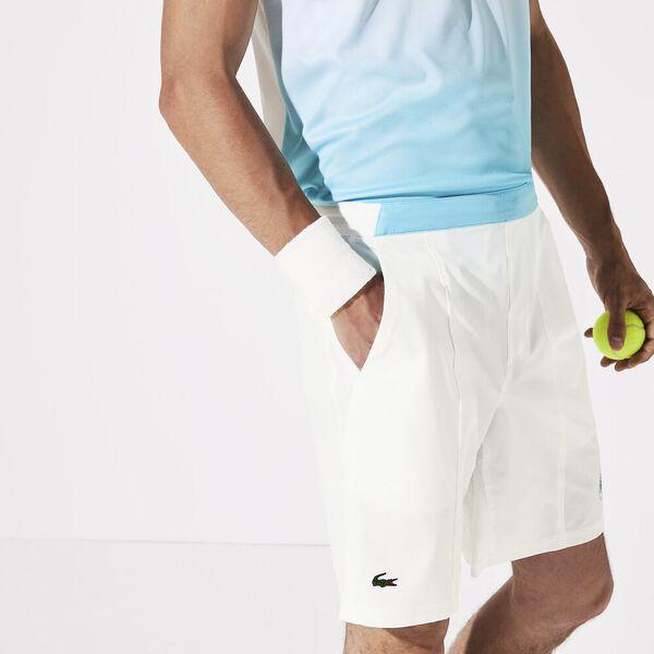 Men's Lacoste SPORT Roland Garros Breathable Two-Tone Shorts, BLANC/HAITI-YUCCA, hi-res