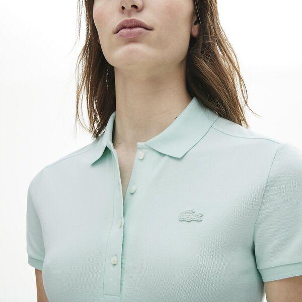 Women's Lacoste Stretch Cotton Piqué Polo Shirt, IGLOO, hi-res
