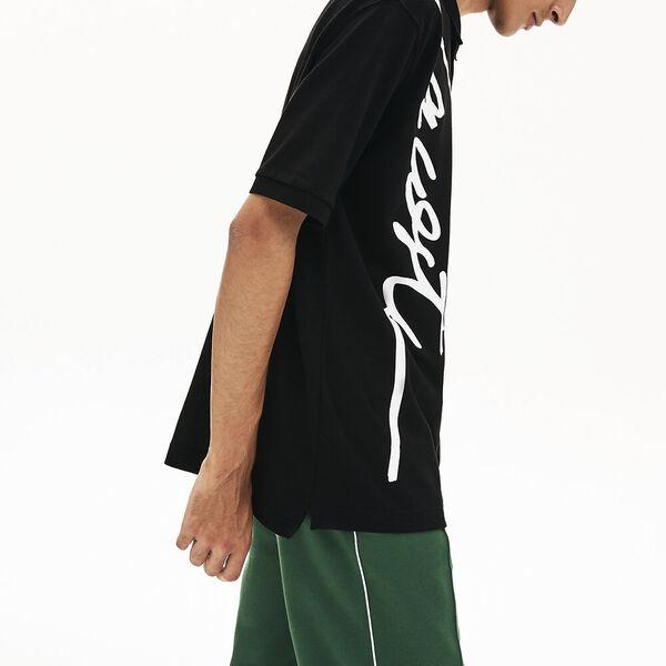 Unisex L!ve Signature Loose Fit Polo, BLACK/WHITE, hi-res