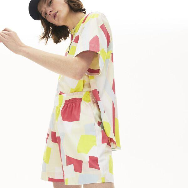 Women's Coloured Design Cotton Blend Blouse, CLUSI/MULTICO, hi-res