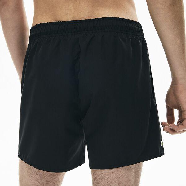 Men's Light Quick-Dry Swim Shorts, NOIR/MARINE, hi-res
