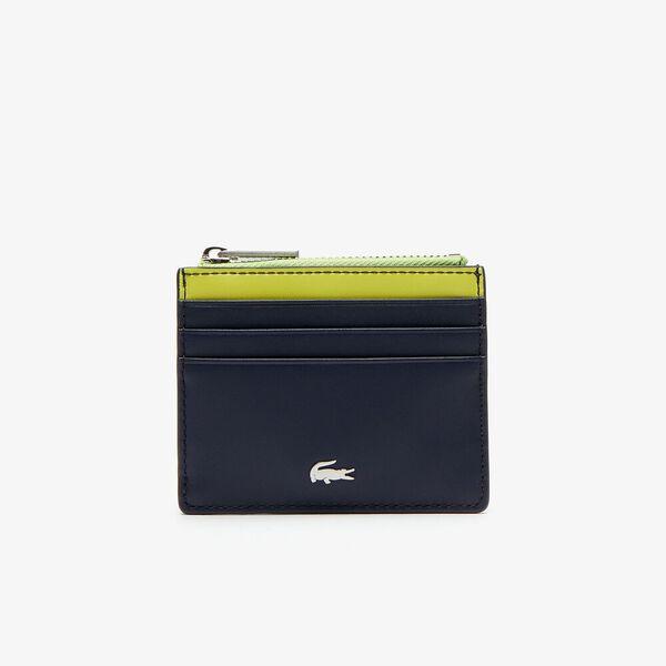 Men's Fitzgerald Colourblock Leather Zip Card Holder