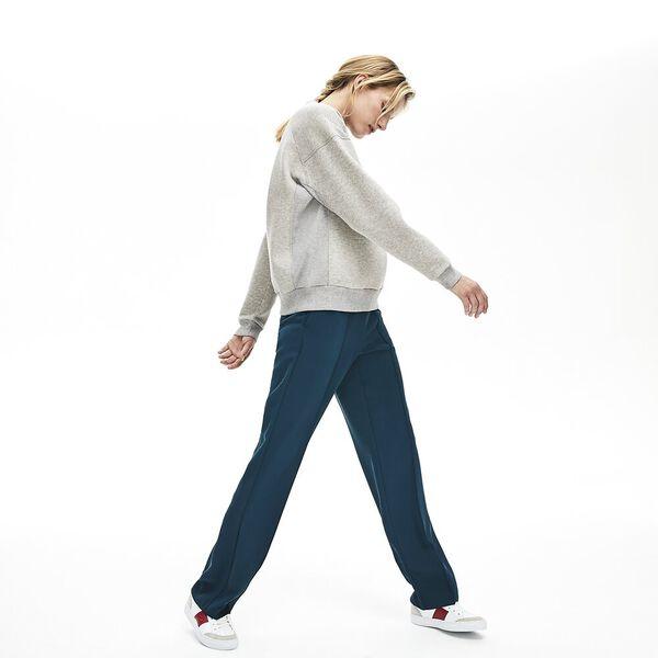 Women's Lacoste Motion Crew Neck Sweatshirt, SILVER CHINE, hi-res