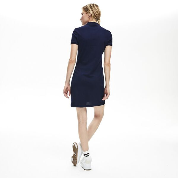 Women's Slim Fit Core Polo Dress, NAVY BLUE, hi-res