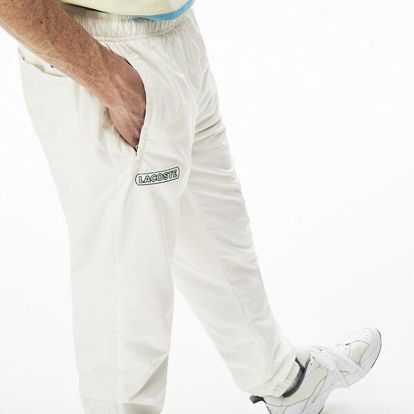 Men's Elastic Waistband Trackpants, FARINE, hi-res