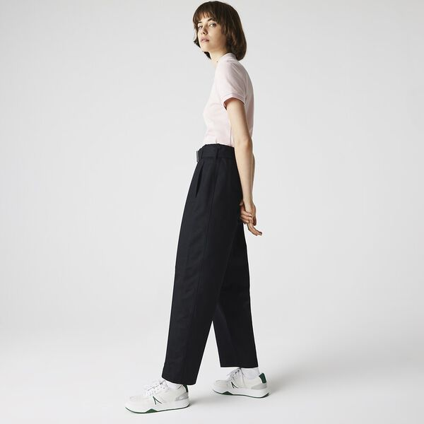 Women's High-Waisted Belted Pants