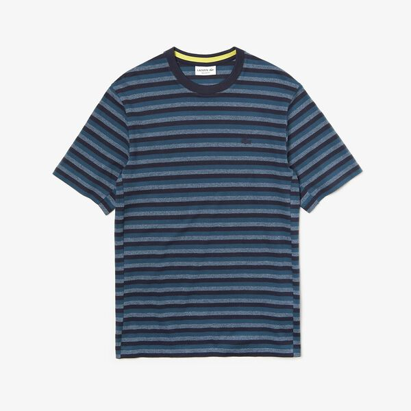 Men's Lacoste Motion Ultra Thin Tee, DARK NAVY BLUE/WHEELWRIGHT, hi-res