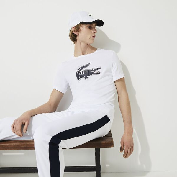 Men's Lacoste SPORT 3D Print Crocodile Breathable Jersey T-shirt