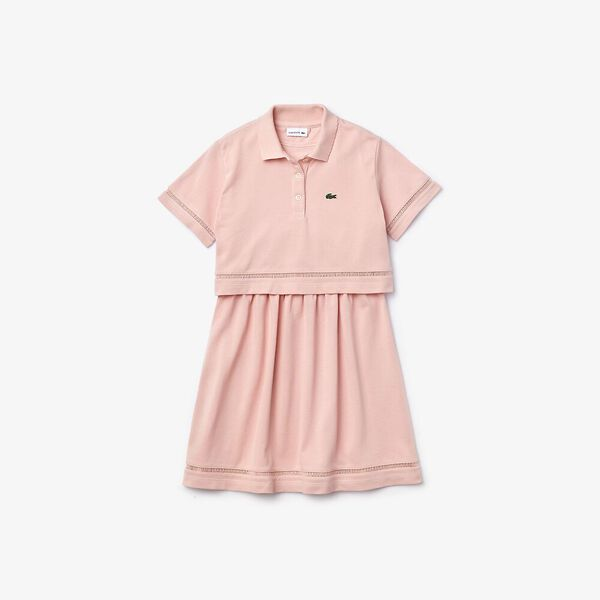 Girl's Polo-Style Trompe l'Oeil Dress, WILLO, hi-res