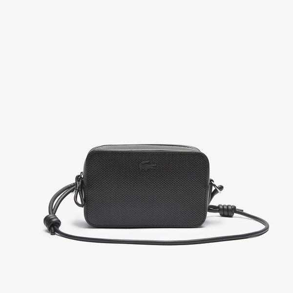Women's Chantaco Matte Piqué Leather Shoulder Bag, NOIR, hi-res