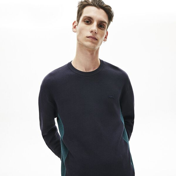 Men's Contrast Effects Knit Sweater