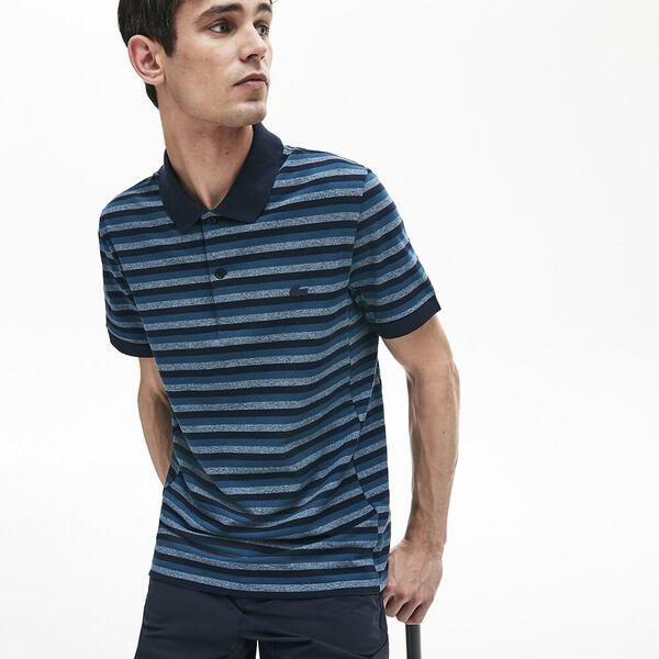 Men's Lacoste Motion Thin Reg Fit Polo, DARK NAVY BLUE/WHEELWRIGHT, hi-res