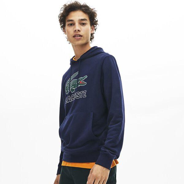 Men's Lacoste Croc Pullover, NAVY BLUE, hi-res