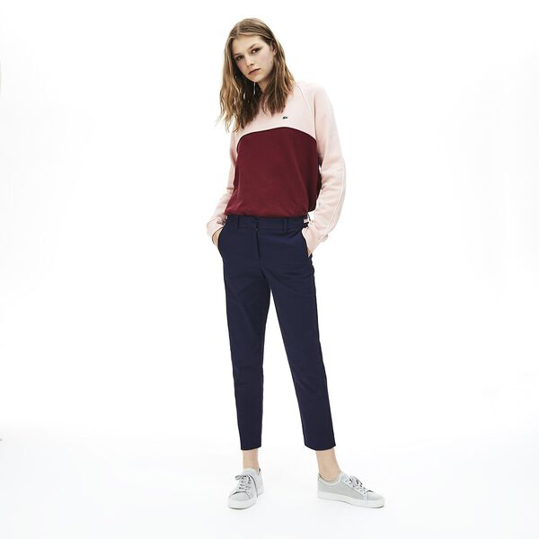 WOMEN'S STRETCH PANT WITH BELT