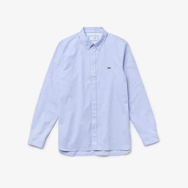 Men's Slim Fit Stretch Oxford Cotton Shirt, HEMISPHERE, hi-res