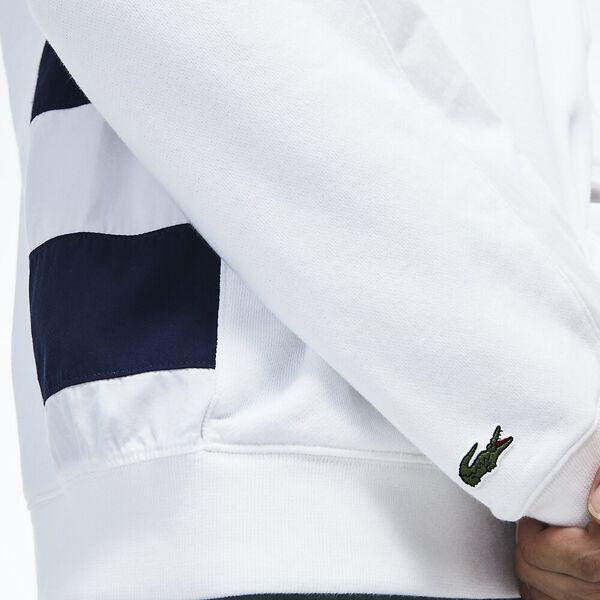 Men's Nautical Pullover, WHITE/NAVY BLUE, hi-res