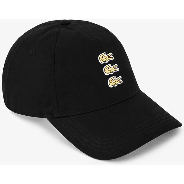 Men's Triple Crocodiles Cotton Twill Cap, NOIR, hi-res