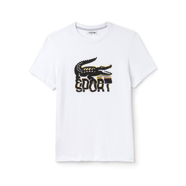 MEN'S BIG CROC SPORT TEE, WHITE/BLACK/SILVER CH, hi-res