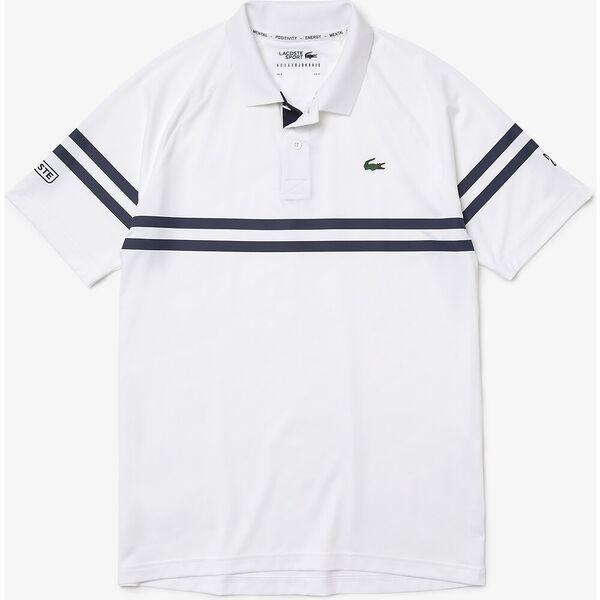 Men's SPORT x Novak Djokovic Ultra-Light Striped Polo, WHITE/NAVY BLUE, hi-res
