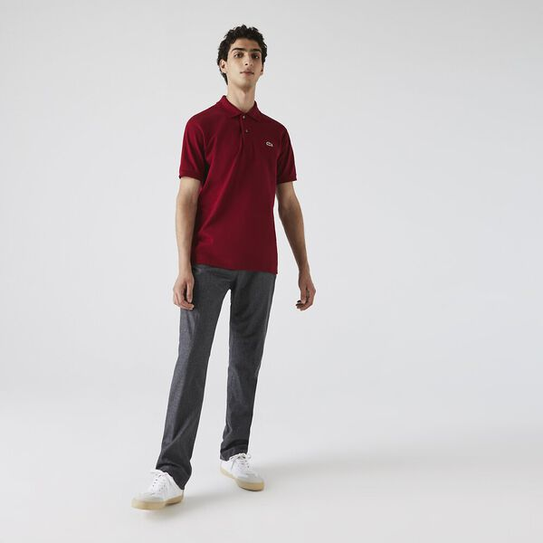 Men's L.12.12 Classic Polo, BORDEAUX, hi-res