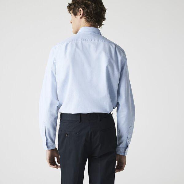 Men's Classic Long Sleeve Reg Fit Oxford Shirt, HEMISPHERE BLUE, hi-res