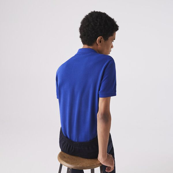 Men's Slim fit Lacoste Polo Shirt in petit piqué, COSMIC, hi-res