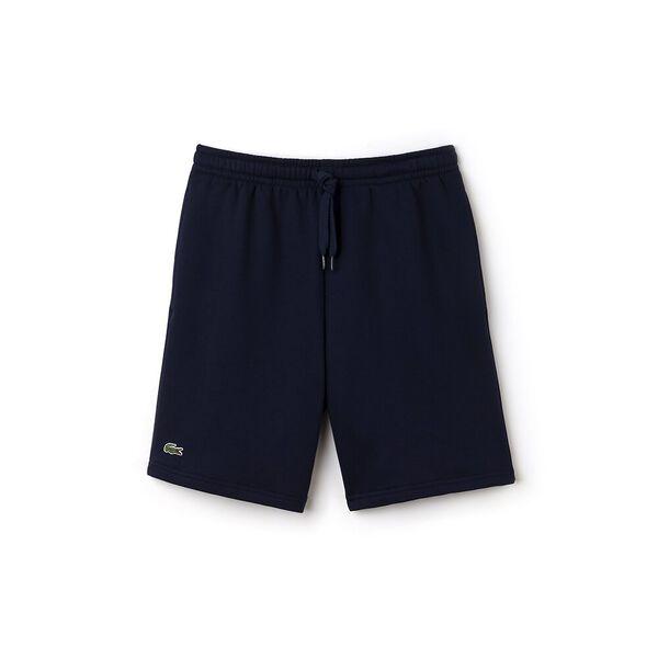 Men's Lacoste SPORT Tennis Fleece Shorts, NAVY BLUE, hi-res