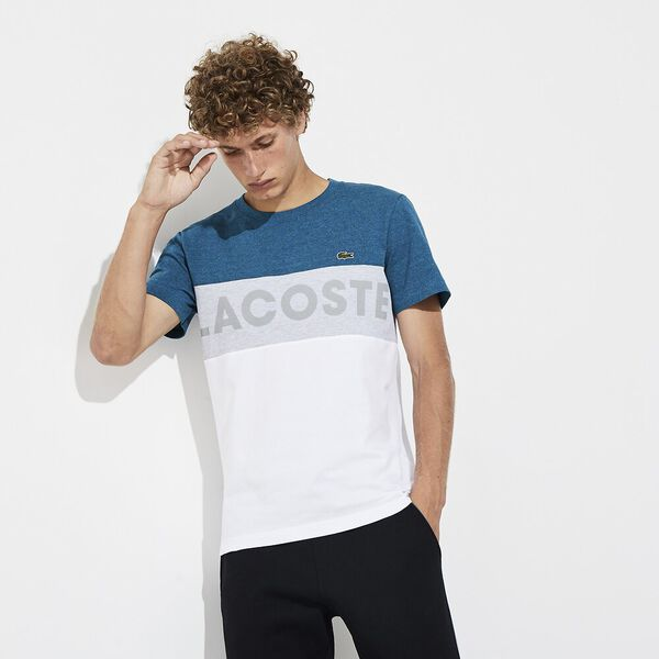 MEN'S LIFESTYLE LIGHT KNIT POCKET TEE, ALCEA CHINE/SILVER CHINE, hi-res