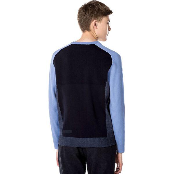 Men's Motion Breathable Colourblock Sweater, PURPY/DARK NAVY BLUE, hi-res