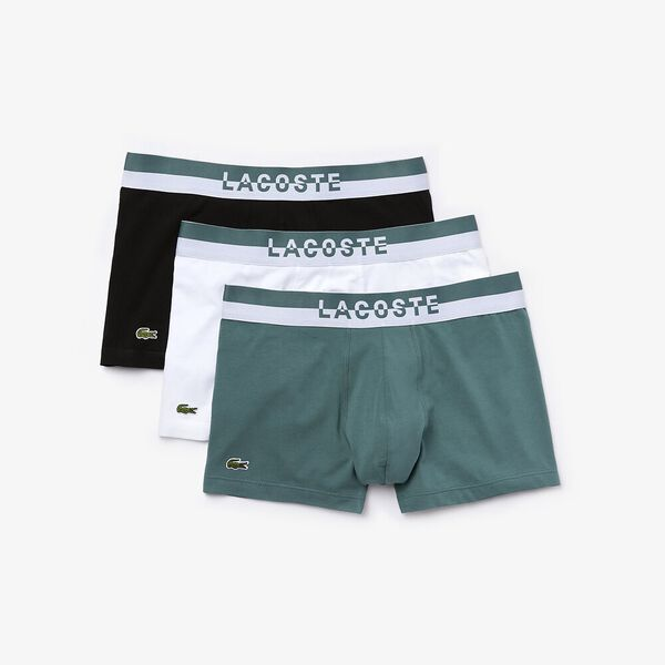 Mens Underwear  Trunk 3 Pack, IDAHO GREEN/WHITE-BLACK, hi-res