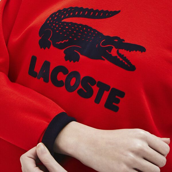 Women's Printed Fleece Sweatshirt, CORRIDA/MARINE, hi-res