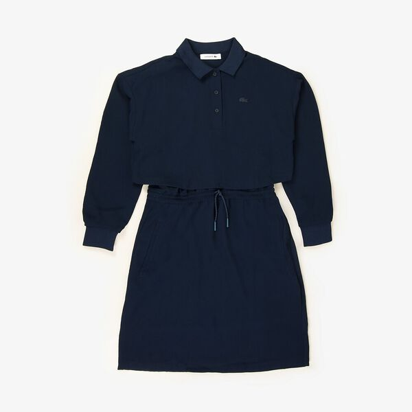 Women's Lacoste Motion Fit & Flare Dress, NAVY BLUE, hi-res