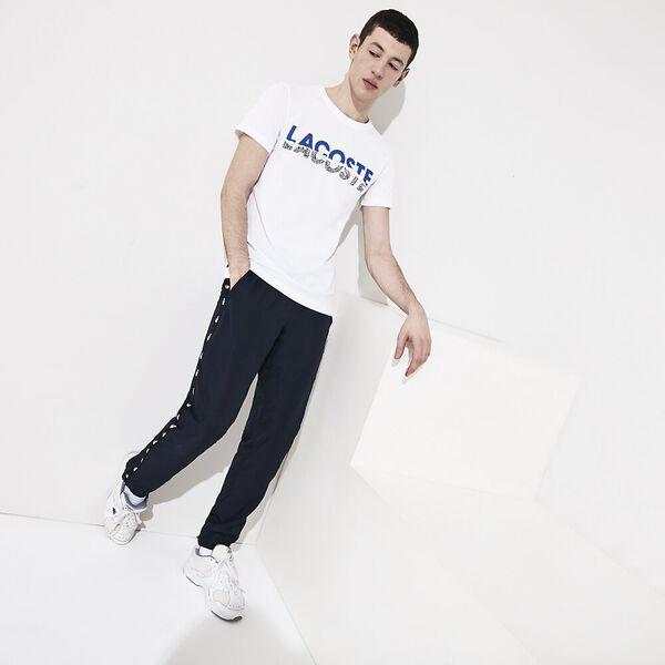 Men's SPORT Print Cotton Blend T-shirt, BLANC/OBSCURITE-NOIR-BLANC, hi-res