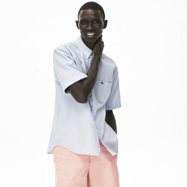 Men's Short-Sleeved, Light Cotton Shirt