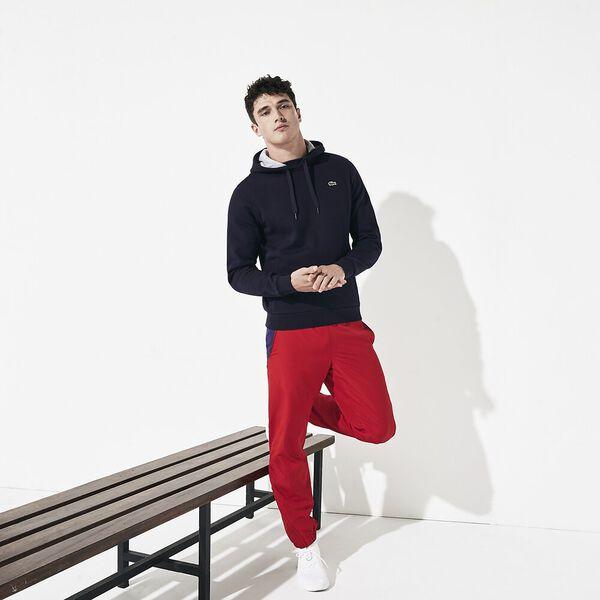 Men's Lacoste Sport Hooded Pullover, NAVY BLUE/SILVER, hi-res