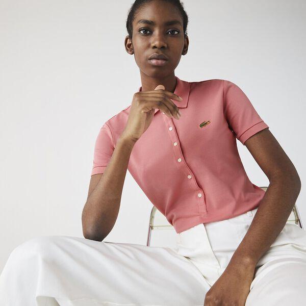 Women's LIVE Slim Fit Stretch Cotton Piqué Polo, AMARYLLIS, hi-res
