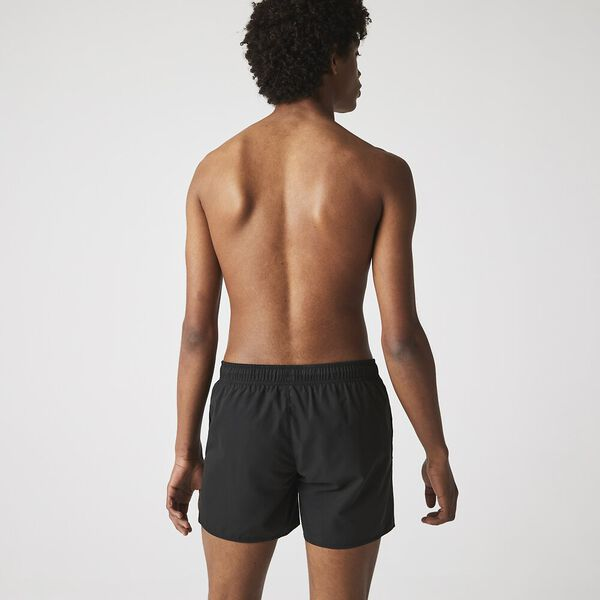 Men's Light Quick-Dry Swim Shorts, BLACK/NAVY BLUE, hi-res