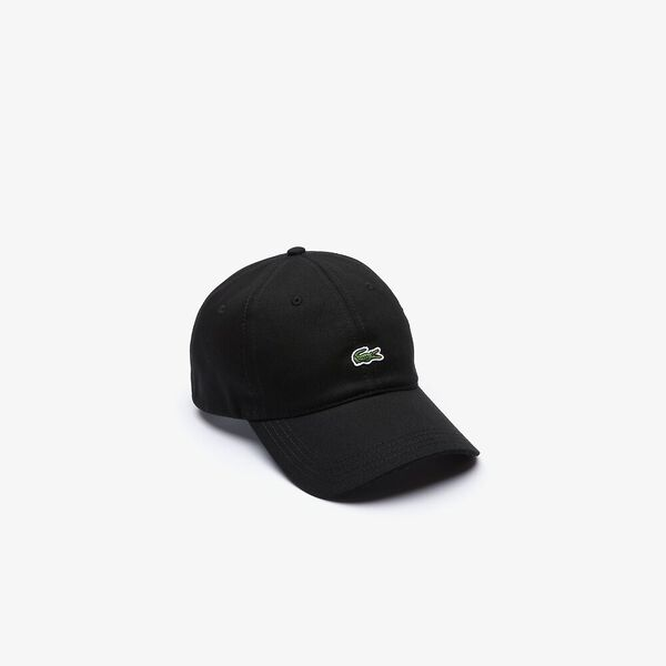 Men's Contrast Strap And Crocodile Cotton Cap, NOIR, hi-res