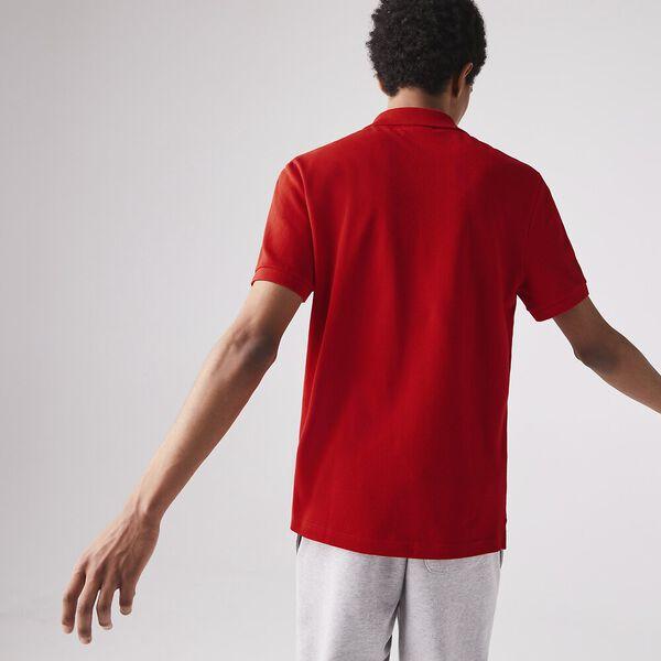 MEN'S SLIM FIT CORE POLO, RED, hi-res