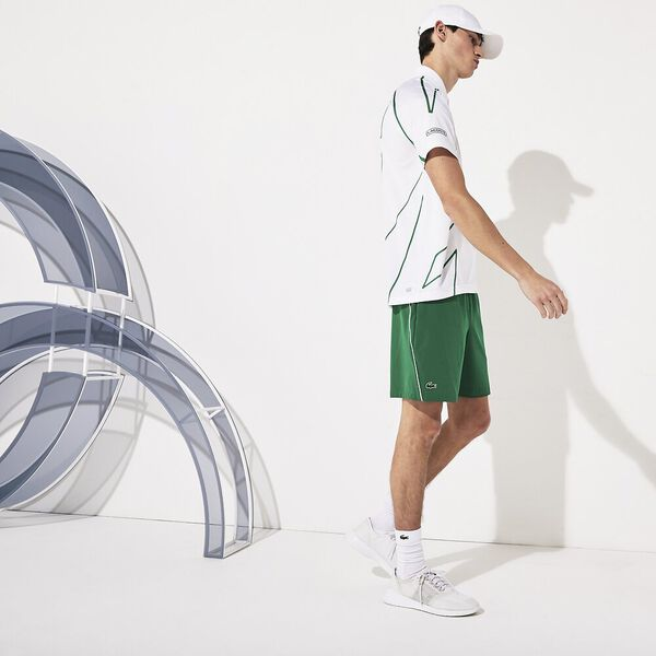 Men's Novak Djokovic Australian  Open Stretch Taffeta Short, YUCCA/BLANC, hi-res