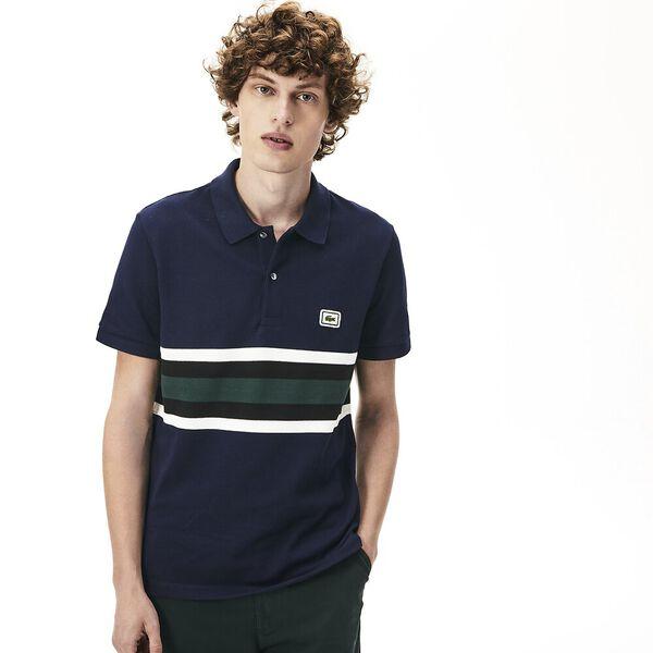 Men's 90S Sportswear Reg Fit Polo, NAVY BLUE/FLOUR-BLACK, hi-res